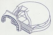 Schematische Abbildung eines Bausatzofens